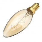 E14 40W Tungsten Filament Candle Bulb Lamp Warm White Light 3000K 350lm - Tawny (AC 220~240V)