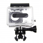 PC Case w/ Hole for GoPro Hero 1 / 2 - Black + Translucent White