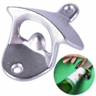 Wall Mounted Metal Beer Bottle Opener - Silver