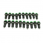 Circular 250V 3A Self-locking Button Switches - Green (20 PCS)