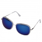 OUMILY Universal UV400 Protection PC Lens Sunglasses - White + Blue