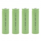 """2800mAh"" 3.7V 18650 Rechargeable Lithium Ion Battery - Green (4 PCS)"