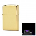 MOXO USB Rechargeable Flameless Electric Arc Windproof Cigar Cigarette Lighter - Golden