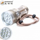 ZHISHUNJIA 7000lm 7-LED 3-Mode Super Bright White Flashlight Torch - Golden (4 x 18650)
