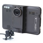 "7"" HD 1080P Android 4.4 Car GPS DVR Radar WiFi 16GB EU Map - Black"
