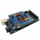 Improved MEGA 2560 Development Board Module w/ USB Cable + IO Expansion Shield for Arduino