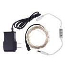 DC Mini Dimmer + 10m Copper Wire Strip Light + 12V 1A Power Adapter