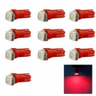 HONSCO T5 0.25W 1x5050 SMD LED Red Light Dashboard Instrument Bulb Lamp (DC 12V / 10 PCS)