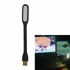JIAWEN® MUE4001CN 1.2W 6500K Universal Bendable Portable USB LED Mini Light Lamp - Black (DC 5V)