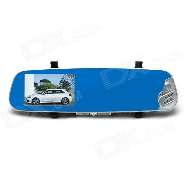 "Kemico KP500 4.3"" 1080P Car DVR Rearview Mirror - Blue + Black"