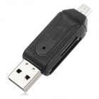 USB 2.0 + / HTC / Xiaomi / Blackberry OTG + SD / leitor de cartão SD Samsung Micro - Black