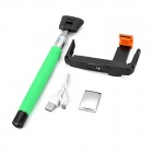 Mini Smile Retractable Selfie Monopod w/ Holder, Mirror - Green
