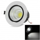 15W COB LED Ceiling Light Lamp White 6000K 1450lm - White + Black (85~265V)