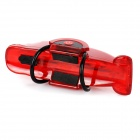 Mini Bike Tail Light Red Light 8lm 4-Mode - Red + Translucent