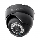 "HOSAFE 1MD1B Waterproof 1/4"" CMOS 1.0MP HD Security Dome IP Network Camera w/ 24-IR-LED (EU Plug)"