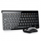 Motospeed G9800 78-Key Ultra-Thin 2.4G Wireless Keyboard + Wireless Optical Mouse Set - Black
