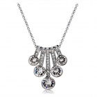 Xinguang Women's Stylish Crystals Inlaid Necklace - Silver