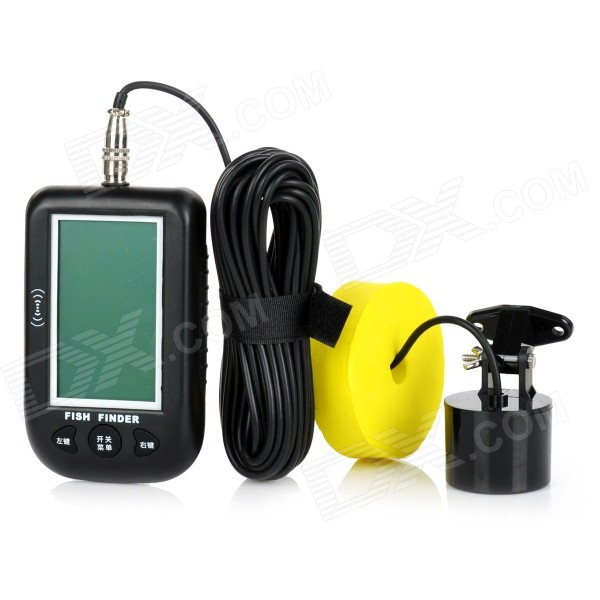 "Multifunctional 3.4"" LCD Dot-Matrix Fish Detector - Black (3 * AA)"