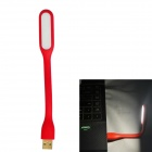 JIAWEN 1.2W Universal Bendable Portable USB LED Mini Lamp White 6500K 96lm - Red (DC 5V)