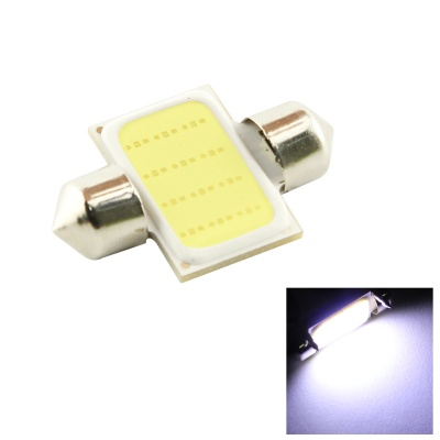 HONSCO Festoon 31mm 3W LED COB Car Light Bulb Cold White 6500K - White