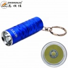 ZHISHUNJIA 1302-T6 XM-L LED 700lm 3-Mode Cool White Light Flashlight w/ Keychain - Blue (1 x 16340)