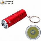 ZHISHUNJIA 1302-T6 XM-L LED 700lm 3-Mode Cool White Light Flashlight w/ Keychain - Red (1 x 16340)