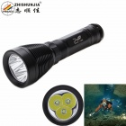 ZHISHUNJIA D39-3T6 2800lm XM-L T6 3-LED 6-Mode Cool White Diving Flashlight - Black (1 x 26650)