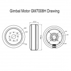 GM7008H High Brushless Gimbal Motor para Z-Axis DSLR Camera - Preto
