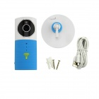 Clever Dog 720P HD Wireless Smart IP Camera w/ TF / Wi-Fi - White + Blue