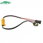 Car H8/H11 Error Canceller with 50W 8ohm Resistor - Golden + Black