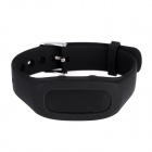 "SH04 0.91"" BT Smart Bracelet w/ Activity Tracker, Remote Camera- Black"
