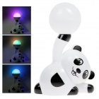 XL-12 Panda Design Colorful Light Party Stage Neon Lamp w/ USB / TF Slot - White + Black