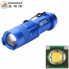ZHISHUNJIA SK68XPE 1-LED 400lm 1-Mode Cool White Light Flashlight w/ Clip - Blue (1 x 14500)