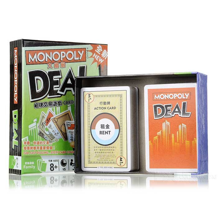 Vintage Board Game - Monopoly Deal Card Game lifeboats board game puzzle cards games english chinese edition funny game for party family with free shipping