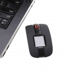 Mini Solar 2.4GHz Wireless Mouse w/ USB Receiver - Black