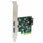 WBTUO Desktop PCI-E to 2-Port USB3.1 Type-A Rear-mounted Expansion Card w/ 4PIN Power Supply