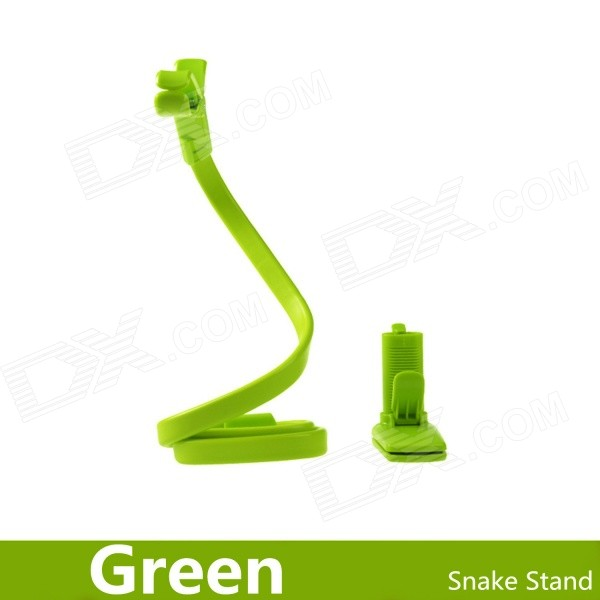 360 Degrees Rotating Snake Style Wearable Flexible Neck Smartphone Stand & Selfie Monopod - Green(SKU 382253)