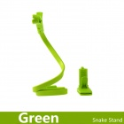 360 Degrees Rotating Snake Style Wearable Flexible Neck Smartphone Stand & Selfie Monopod - Green