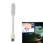 JIAWEN 1.2W Universal Bendable Portable USB LED Mini Lamp White 6500K 96lm  - White (DC 5V)