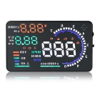 "A8 5.5"" Screen HUD Head Up Display System for Car - Black"