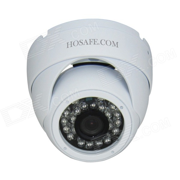 HOSAFE 1MD1W 1.0MP HD Security Dome IP Network Camera - White US Plugss