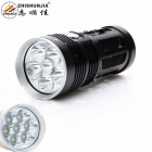 ZHISHUNJIA XM-L2 U2 6000lm 7-LED 3-Mode Cool White Flashlight - Black (4 x 18650)