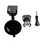 Mini Rotatable Car Suction Cup Mount w/ Screw for GoPro Hero 2 / 3 / 3+ / 4 / SJ4000 - Black