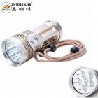 ZHISHUNJIA XGB06G 5000lm XM-L2 U2 6-LED 3-Mode White Light Flashlight Torch - Golden (4 x 18650)