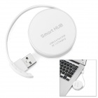 USB 2.0 High Speed 1 to 4 HUB - White