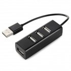 USB 2.0 to 480Mbps USB 2.0 4-Port Hub - Black