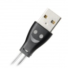Micro USB to USB2.0 Retractable Lighting Charging Cable - Black (90cm)