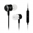 S-What Bluetooth V4.0 In-Ear Earphone w/ Microphone for IPHONE / Tablet + More - Black + Silver