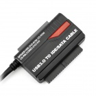 "USB 3.0 to 2.5"" / 3.5""  IDE / SATA HDD Adapte + SATA Cable + Charging Adapter Set - Black (EU Plug)"