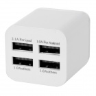 USB 5V / 5.1A Smart Quick Charger - White (US Plugss / 100~240V)